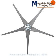 5 Gray Raptor Generation 4 wind turbine generator blades & hub made in America
