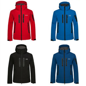 Mens Outdoor Jacket Under Armour Sports Waterproof Soft Shell Hooded Hiking Coat