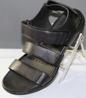 Ecco Leather Adjustable 3-Strap Women's Sandals, Black, EU Size 37, 1910303926