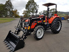 New 70hp Tractor 4WD with FEL and 4 in 1 Bucket. Flat Floor & 3 Years Warranty
