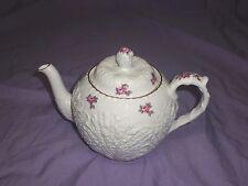 """Spode's Bridal Rose-Savoy Billingsley Rose TEA  POT  """"Y2788"""" GOLD TRIM"""