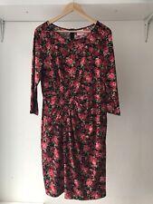 Leona Edmiston Floral Roses Stretch Dress Size 3 / AU Size 14 Spring Wedding