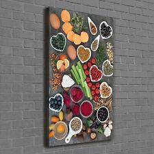 Wandbild Kunst-Druck auf Hart-Glas hochkant 50x125 Birkenwald