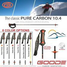 2021 Goode Pure Carbon Fiber Best Ski Poles Adjustable Length Grip Light 10.4 mm