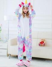 Hot Adult/Child Soft Flannel Unicorn Pajamas Cosplay Animal Sleepwear Clothes