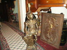 "Vintage Plaster Knight In Armor Table Lamp-Large Knight Lamp-32""Tall-23LBS"