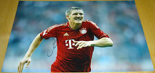 Bastian Schweinsteiger Bayern Munich personly Firmado Autógrafo 12x8 Foto Fútbol