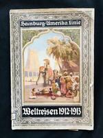 HAMBURG AMERIKA America WORLD CRUISE BROCHURE BOOK 1912 Ocean Liner SS Cleveland