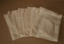6 X 10 inch Cloth Parts Bags  10 New Bags