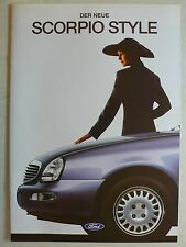 Prospekt Ford Scorpio style 2. modelo Limousine/torneo, 11.1995, 8 páginas