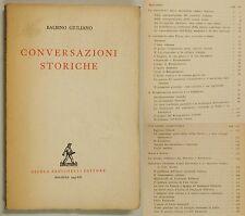Giuliano Balbino CONVERSAZIONI STORICHE 1943 Risorgimento Casa Savoia 2° Guerra
