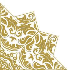 Christmas Paper Napkins 24 pcs ∅12.6″ Magic Star Gold, Golden Decoration