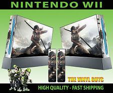 NINTENDO Wii adesivo LARA CROFT TOMB RAIDER SKIN e 2 X CONTROLLER SKIN PER PAD