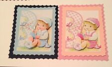 CUTE 3D BABY'S 3RD BIRTHDAY CARD TOPPERS BOOKATRIX  (LAYERED)