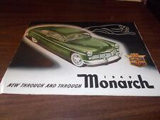 1949 Monarch Canadian Sales Brochure / Scarce !!