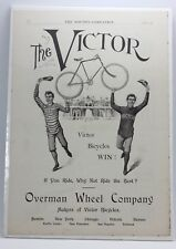 ANTIQUE 1895 VICTOR BICYCLES ADVERTISEMENT from The Youth's Companion
