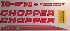 RALEIGH CHOPPER MK2 DECAL SET, DAYGLO GLOSS RED/ORANGE