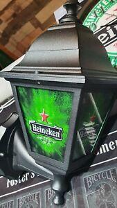 Heineken Lager Light Bar Pub Lantern Man Cave Lamp