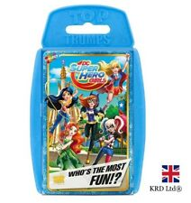 TOP TRUMPS DC SUPERHERO GIRLS CARD GAME Family Kids Fun Play Christmas Gift UK