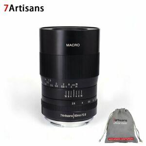 7artisans 60mm f2.8 APS-C manual fixed focus macro lens for Sony Canon Sony Fuji