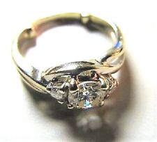 ESTATE SALE BEAUTIFUL STULLER 14K GOLD APPROX .62 CT DIAMOND RING