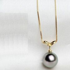 HOT Huge AAA 16mm Black South Sea Shell Pearl Pendant Necklace