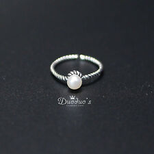 925 Sterling Silver Ring With Pearl/Adjustable