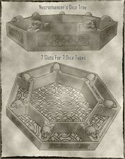 The Necromancer Dice Tray For Dungeons & Dragons and other Tabletop Games