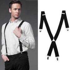 EXTRA WIDE SUSPENDERS 35MM ADJUSTABLE CLIP ON STRONG MENS ELASTIC BRACES