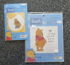 Pair of Leisure Arts Winnie The Pooh Counted Cross Stitch Kits Bib Disney