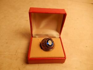 Vintage Blue Stone U.S. Army Military JROTC Ring Size 6 NOS CREST CRAFT