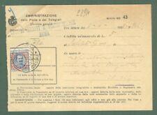 Storia postale. REGNO D'ITALIA. Lire 5 Floreale su ammenda del 1928