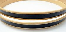 "Set 22"" WOOD BASS DRUM HOOPS, 12-PLY, NATURAL w/ BLACK INLAY, Sonor Brand"