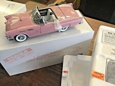 Danbury Mint 1/24 Limited Edition 1957 Ford Thunderbird Convertible (Dusk Rose)