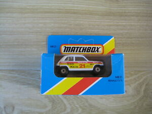MATCHBOX SUPERFAST  MB21  RENAULT 5.TL   RALLY CAR No21 ABSOLUTELY MINT