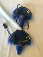 Nintendo 64 Controllers Lot Of 2 Blue