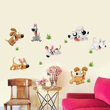 Lovely Puppy Dogs Wall Sticker Mural Art Removable Vinyl Decals Home DIY Decor