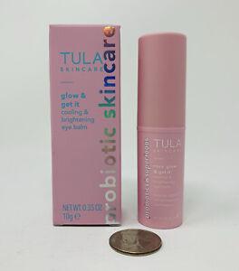 Tula Rose Glow & Get It Cooling & Brightening Eye Balm 0.35oz Full Sz New In Box