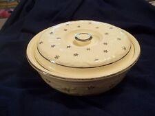 Homer Laughlin Oven Serve Casserole Silver Trim  Stars  Rare