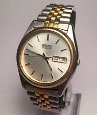 Men's Seiko Vintage Quartz Watch President Jubilee Style Two Tone Calendar Runs!