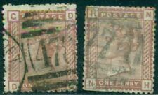 GREAT BRITAIN SG-166, SCOTT # 79, USED, FAULTS, 2 STAMPS, GREAT PRICE!