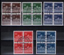 Berlin Mi. - Nr. 286 - 290 Viererblock mit Vollstempel DETMOLD 31.12.91
