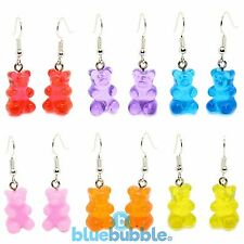 Bluebubble MY SWEET SHOP Gummy Bear Earrings Sweet Novelty Cute Kitsch Kawaii