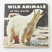 Vintage View-Master Reel Set B614 WILD ANIMALS OF THE WORLD (1958)