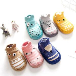 Cotton Newborn Baby Kids Toddler Anti-Slip Socks Slipper Winter Shoes Warm Boots