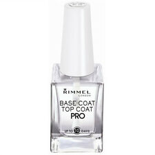RIMMEL LONDON BASE & TOP COAT PRO UP TO 10 DAYS SQUARE CLEAR BOTTLE WHITE LID