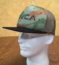 RVCA Camo Trucker Cap Hat Baseball Mesh SNAPBACK Green/Black OSFA