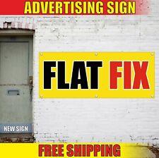 Flat Fix Banner Advertising Vinyl Sign Flag Auto Car Repair Service Shop Fast 24