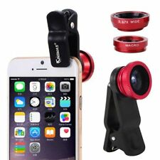 3in1 FishEye Wide Angle Macro Telephoto Cell Phone Camera Lens for iPhone 6 Plus