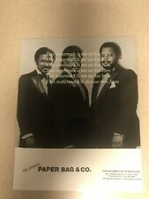 The Dynamic Paper Bag & Co Original Promotional Photograph Toured with BB King